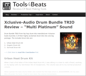 tools 4 beats - review - Drum budle trio - Blog post2